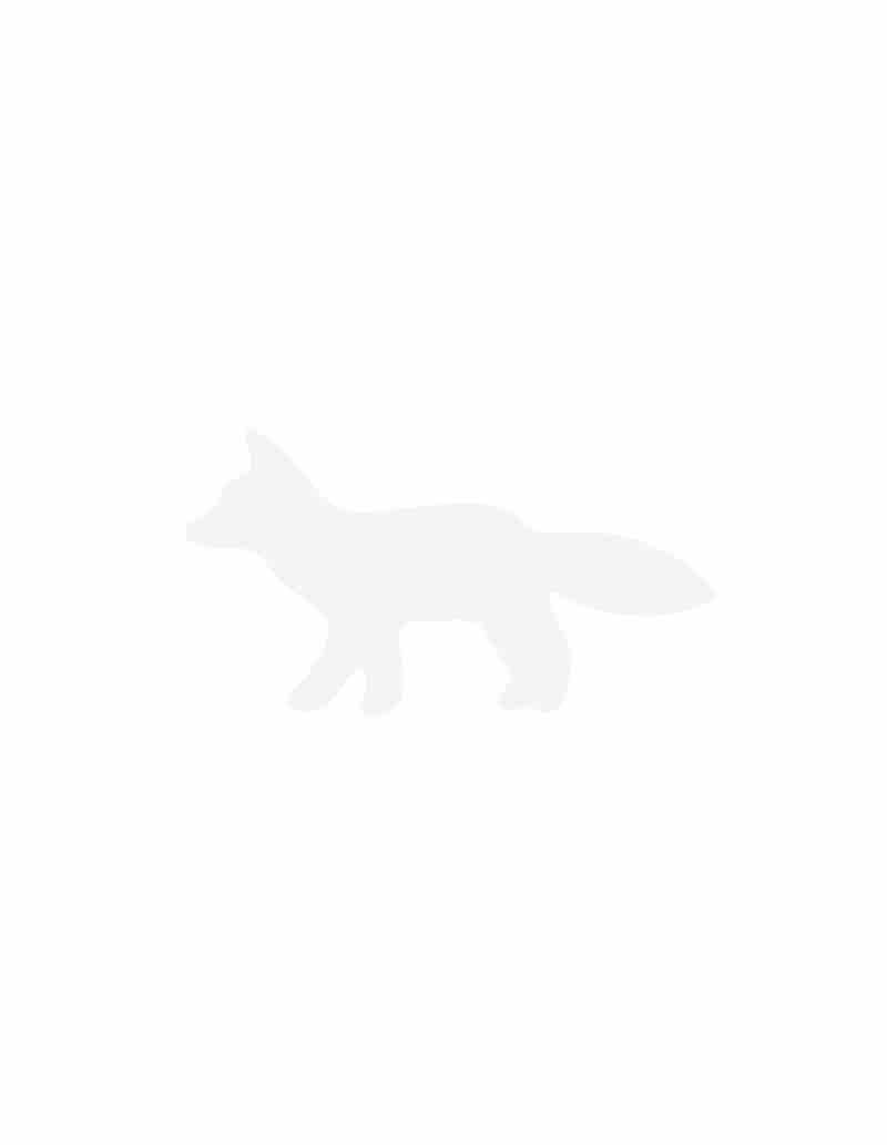 FOX HEAD LEATHER KEYRING